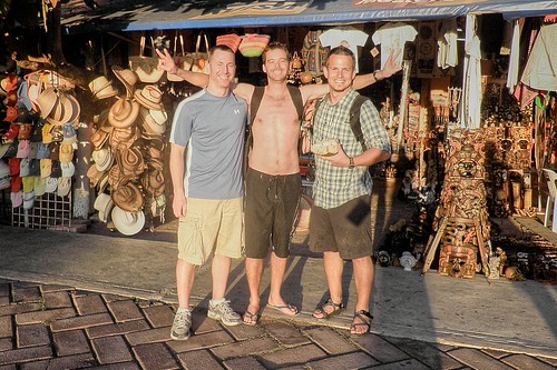 Doug, Anthony, and Jeff at the Tulum Market