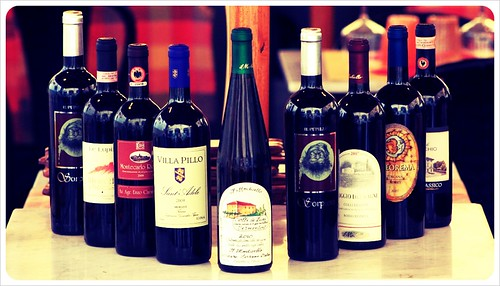 Italian wines in Lucca Tuscany