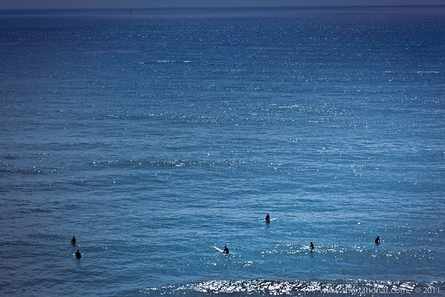 Surfers at Solana Beach