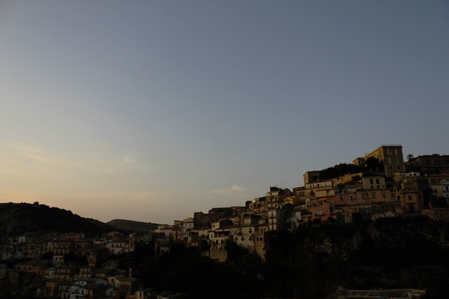 view of ragusa ibla from the road