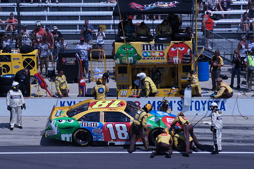 Kyle Busch pits at IMS