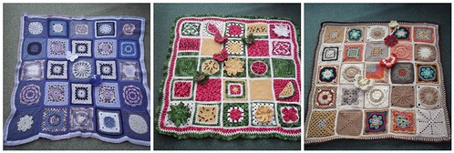 Our last three 'Sunshine Blankets' for SIBOL. Please follow on and have a look at them.