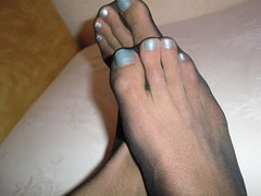 CIMG0689 (iluvnicehandsandfeets) Tags: feet pantyhose nylon nylonfeet toenailspolish toesinhose