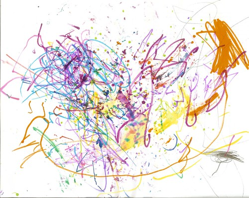 """""""Just Scribbles"""" Asher's Art, 4.5 Years Old"""