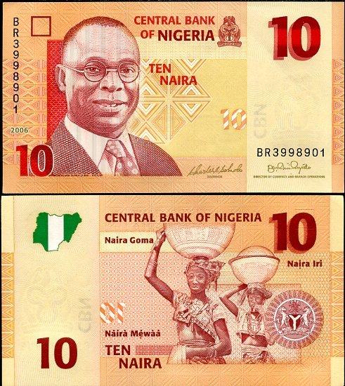 10 Naira Nigéria 2006, Pick 33a