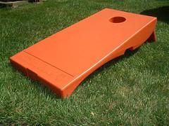 Orange Plastic Cornhole Set