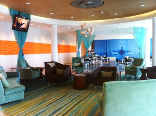 blue & orange lobby