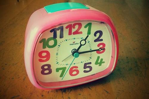 娘にプレゼントした目覚まし時計