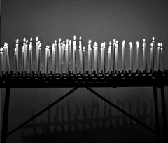 candle in the wind (Claudia Gaiotto) Tags: life bw monochrome candles wind bn silence candele