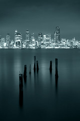 Another view from Alki (Gregory Moser) Tags: seattle longexposure 20d landscape cityscape alki 85mm18