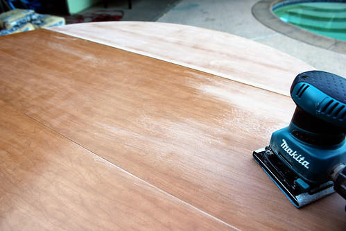 Sanding dining table
