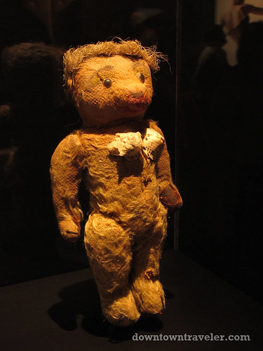 Jean Paul Gaultier Nana teddy bear with cones at Montreal museum