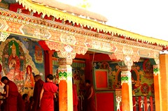 Shangri la Temple (MelbFlickr) Tags: china flowers sky mountain color tree green water temple pagoda google image chinese pic tibet shangrila explore kunming dali buddah baidu lijiang