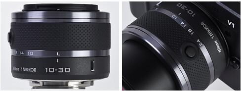 Nikon 10-30mm VR mounted on the Nikon V1