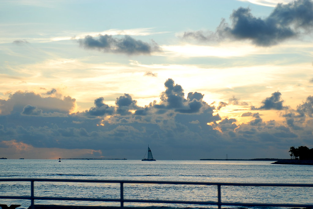 key west sunset with sailboat