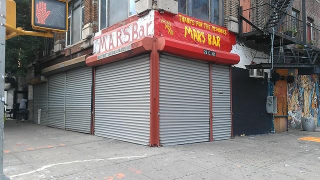 Mars Bar is looking a bit... sanitized