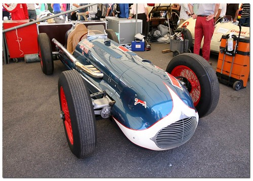 """Bill Holland 1947 Deidt Offenhauser """"Blue Crown Special"""" Indy Car. """"100 Years Indianapolis 500"""" Goodwood Festival of Speed 2011"""