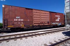 NYC 221453 (TRUE 2 DEATH) Tags: california railroad streetart art train graffiti tag graf trains railcar boxcar railways railfan freight freighttrain conrail rollingstock newyorkcentral benching freighttraingraffiti nyc221453