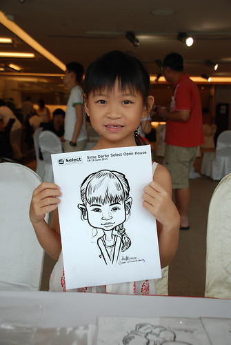 Caricature live sketching for Sime Darby Select Open House Day 2 - 16