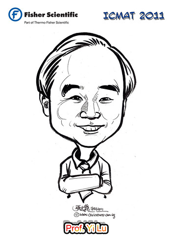 Caricature for Fisher Scientific - Prof. Yi Lu