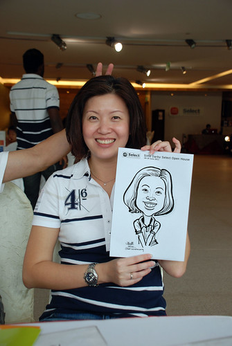 Caricature live sketching for Sime Darby Select Open House Day 1 - 9