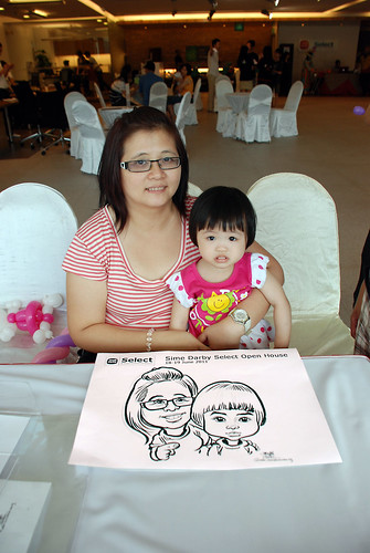 Caricature live sketching for Sime Darby Select Open House Day 2 - 19