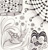 06-06-2011 (Blind Squirrel Photo Safari) Tags: art tile drawing hobby doodle tangle zentangle