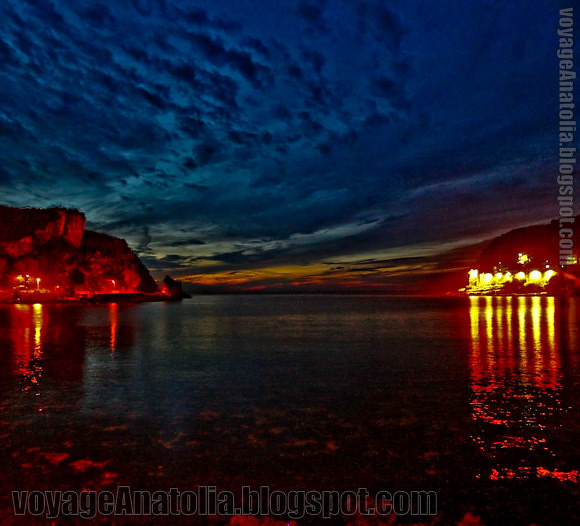 Night at Amasra Harbor