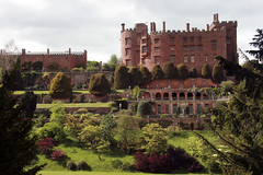 Powis Castle and Garden (San Francisco Gal) Tags: uk chimney sky cloud tree brick castle grass wales terrace lawn powis yew shrub wisteria welshpool natureselegantshots thebestofmimamorsgroups powiscastleandgarden theoriginalgoldseal flickrsportal