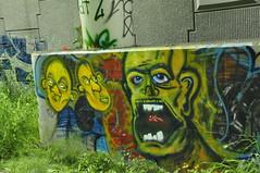 Hokis WG, Eksel GTF (Grimey  Trains) Tags: street canada art vancouver graffiti bc character gt bomb wg gtf hokis eksel