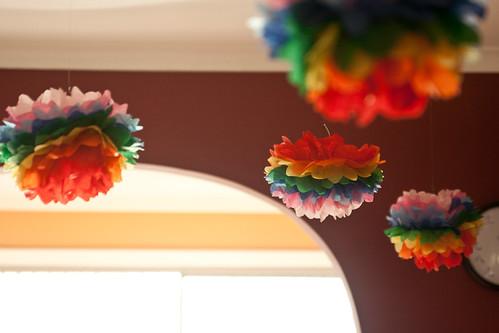 Rainbow Pom Poms