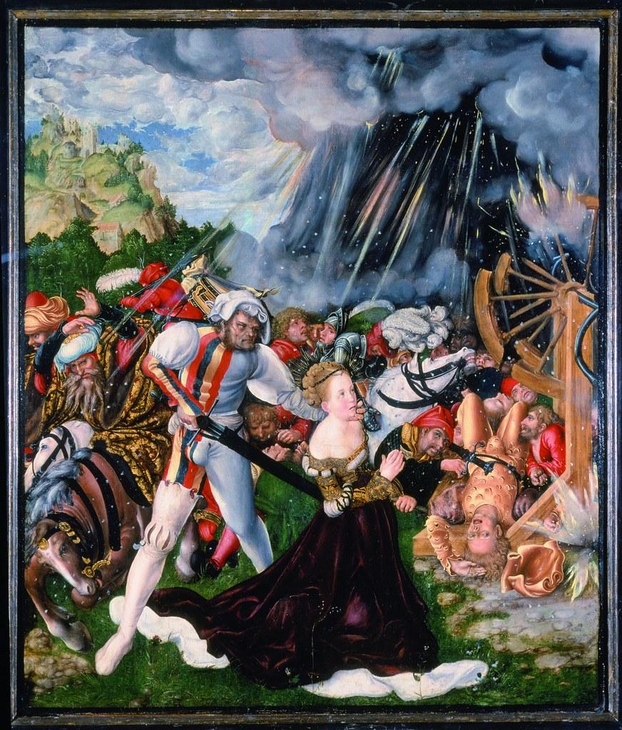 Lucas Cranach l'Ancien, Le Martyre de sainte Catherine (1508-1509)