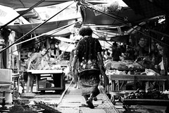 Mae Klong Market #4 (thai-on) Tags: people train shopping thailand nikon market culture d3 samutsongkhram