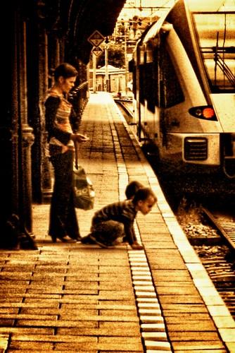 Trein and child
