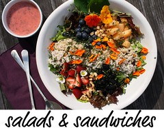 salads and sandwiches index button