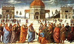Christ Delivering the Keys of the Kingdom to St. Peter (Ellis Art History) Tags: vatican rome men keys religious italian heaven jesus kingdom figures fresco renaissance sistinechapel linearperspective 15thcentury perugino ellisarthistory italy15001600 christdeliveringthekeysofthekingdomtostpeter