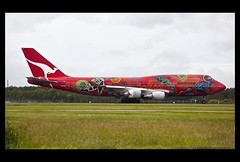 QANTAS 747-400 taking off Brisbane_19-2