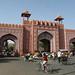 Um dos portões para a cidade antiga de Jaipur