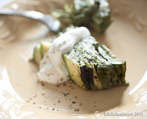 Zucchini Terrine with Thai Basil Pesto