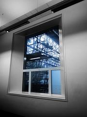 never ending story (Harry -[ The Travel ]- Marmot) Tags: blue holland window netherlands dutch amsterdam museum architecture modern project long scaffolding nederland moderne stedelijk underconstruction architectuur endless postprocessing steiger stadsarchief eindeloos steigerwerk