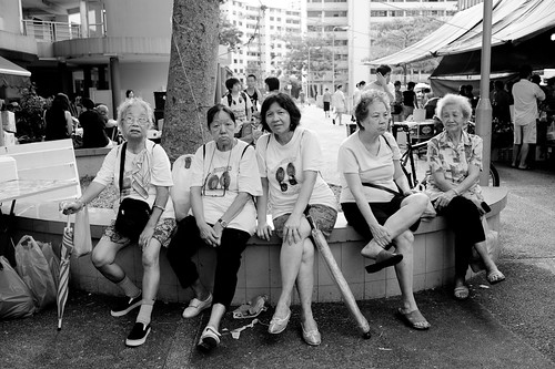 Group of ladies at Ghim Moh estate
