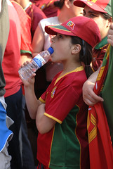 Young Portuguese fan