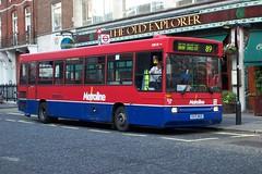 Metroline EDR39 (R315 MLD) Oxford Street 12/8/02 (jmupton2000) Tags: london buses pointer dennis dart metroline plaxton r315mld