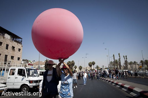 protest against the occupation, Jerusalem, 15/72011.