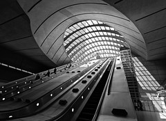 The Way into the Light (1982Chris911 (Thank you 3.000.000 Times)) Tags: uk greatbritain light england blackandwhite bw white black london glass monochrome architecture canon subway artistic metro unitedkingdom steel awesome tube perspective christian normanfoster 5d subwaystation canarywharf modernarchitecture jubileeline londonuk canarywharfstation canoneos5d lglass londonsummer canonllens canoneos5dmarkii canon5dmkii 5dmarkii canon5dmark2 5dmark2 canon5dmarkii eos5dmarkii krieglsteiner 1982chris911 christiankrieglsteiner christiankrieglsteinerphotography