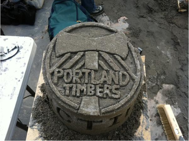 Portland Timbers Sculpture @ Sand in the City