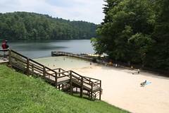Beach and lake area