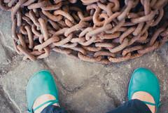 tourist (miss_kcc) Tags: feet me museum shoes belgium chain antwerp cobbles camper