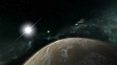 USS Voyager Leaving Orbit (LordDeimosIV) Tags: trek star space conflict starfleet voyager terran x3