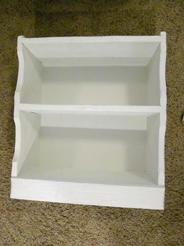 White Bookshelf Ready